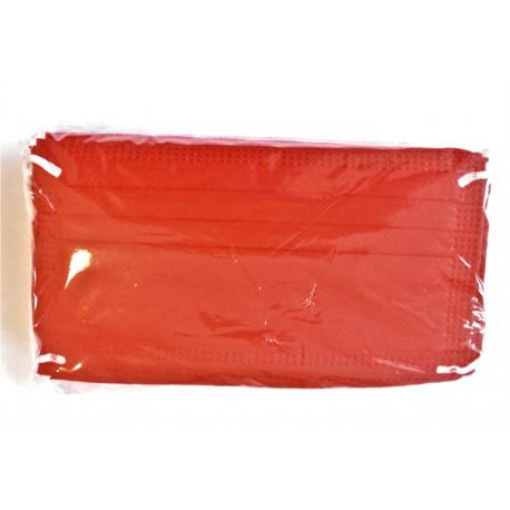 50 ks (7 Kč/kus)- červené medicínské jednorázové certifikované roušky, vyrobeno v EU