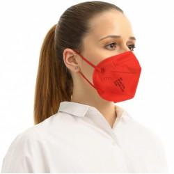 5 ks (15,80 Kč/kus) certifikovaný evropský červený respirátor FFP2 NR originál