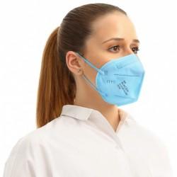 5 ks (15,80 Kč/kus) certifikovaný evropský modrý respirátor FFP2 NR originál