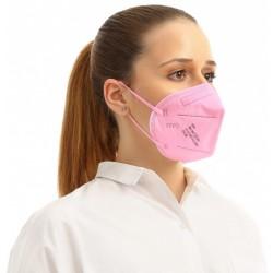 5 ks (15,80 Kč/kus) certifikovaný evropský světle růžový respirátor FFP2 NR originál