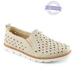 béžová slip-on obuv Tendenz QMS21-074