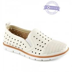 bílá slip-on obuv Tendenz QMS21-073
