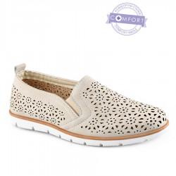 béžová slip-on obuv Tendenz QMS21-072