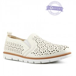 bílá slip-on obuv Tendenz QMS21-072