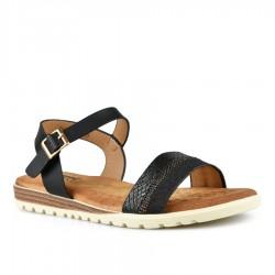 černé sandálky s vyměkčenou stélkou Tendenz TBS21-012