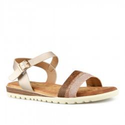 béžové sandálky s vyměkčenou stélkou Tendenz TBS21-012