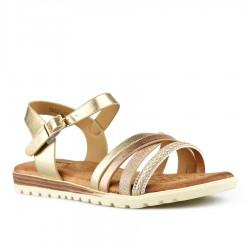 zlaté sandálky s vyměkčenou stélkou Tendenz TBS21-008