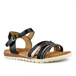 černé sandálky s vyměkčenou stélkou Tendenz TBS21-008