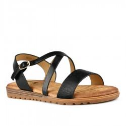 černé sandálky s vyměkčenou stélkou Tendenz TBS21-005