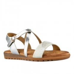 Stříbrné sandálky s vyměkčenou stélkou Tendenz TBS21-005