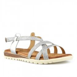 stříbrné sandálky s vyměkčenou stélkou Tendenz TBS21-001