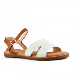 bílé sandálky Tendenz FAS20-006