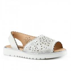 bílé kožené sandály Tendenz NTS21-026