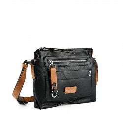 černá crossbody kabelka Tendenz FFS21-023