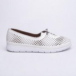 bílá kožená vycházková obuv MatStar 605043