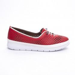 červená kožená vycházková obuv MatStar 605043