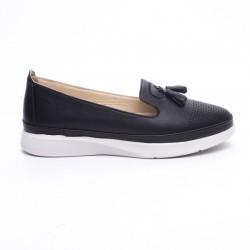 černá kožená vycházková obuv MatStar 635010