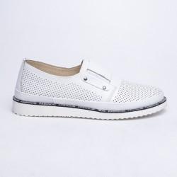 bílá kožená slip-on obuv MatStar 635021