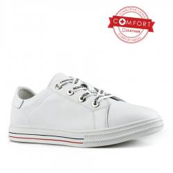 bílé kožené tenisky Tendenz NTS21-037