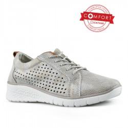 stříbrné kožené tenisky Tendenz NTS21-053