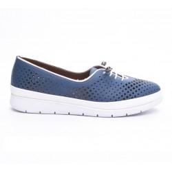 modrá kožená vycházková obuv Mat Star 605043