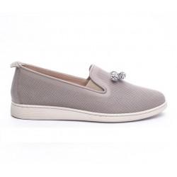 béžová kožená slip-on obuv Mat Star 610016