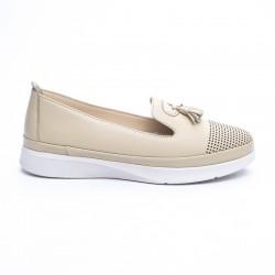 béžová kožená vycházková obuv Mat Star 635010