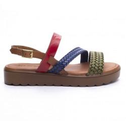 barevné kožené sandály na platformě Mat Star 636007