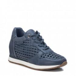 modré kožené tenisky na klínu Carmela 067741
