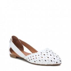 bílé kožené baleríny Carmela 067112