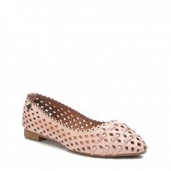 béžovo-růžové kožené baleríny s vyřezávaným vzorem Carmela 067695