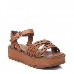 hnědé kožené sandálky na platformě Carmela 067834