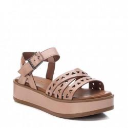 béžovo-růžové kožené sandálky na platformě Carmela 067834