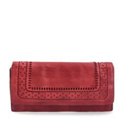 červená kožená dámská peněženka P5111