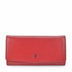 červená kožená dámská peněženka 4466