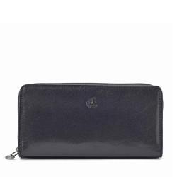 černá kožená dámská peněženka 4401