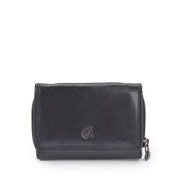 černá kožená dámská peněženka P4511