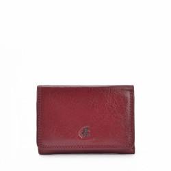 bordó kožená dámská peněženka P4509