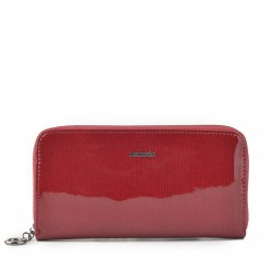červená kožená dámská lakovaná peněženka P2111 F