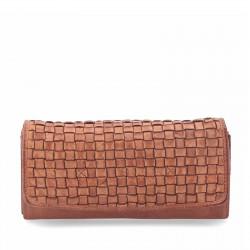 hnědá kožená dámská peněženka P5105