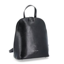 černý kožený elegantní batoh BS 0045