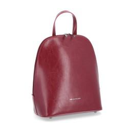 tmavě červený kožený elegantní batoh BS 0045