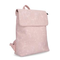 růžový batoh  se vzorem krajky 4139