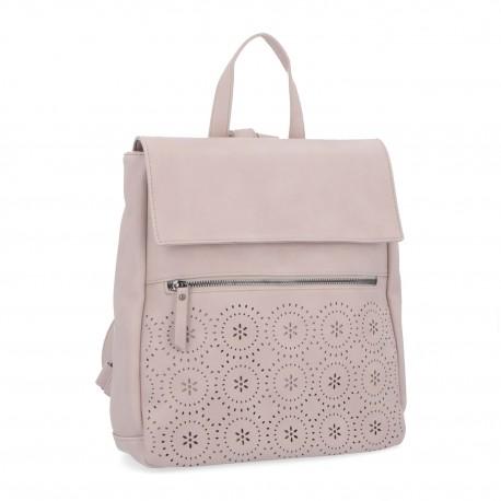 růžovo-fialový batoh s perforací 6260