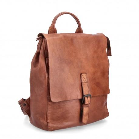hnědý kožený batoh BS 2022
