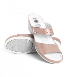 zdravotní růžové kožené pantofle BATZ Dorina