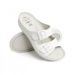 zdravotní bílé kožené pantofle BATZ FC02