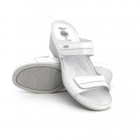 zdravotní bílé kožené pantofle BATZ Laura