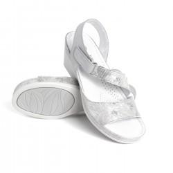 zdravotní šedé vzorované kožené sandály BATZ Leda