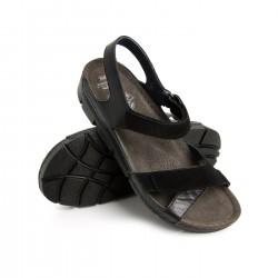 zdravotní černé kožené sandály BATZ Toledo